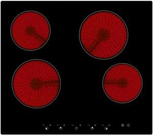 Керамичен плот за вграждане Arielli ACH-460T, Таймер, Черен, 4 нагревателни зони